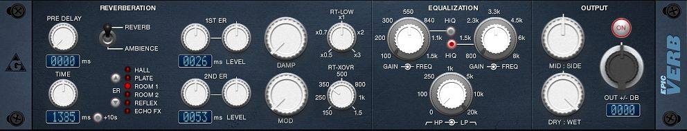 Freeware Reverb: EpicVerb