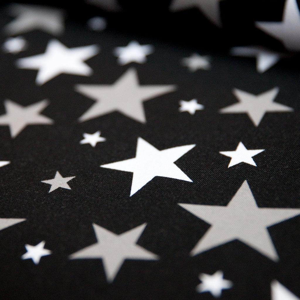 Jersey Stoff Schwarz Sterne Grau Wei 223 G 252 Nstig Kaufen