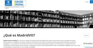 Web Madrid Versión Original. Crédito: Ayto. de Madrid