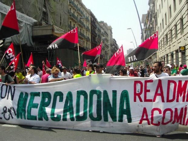 Conflicto sindical en España. Crédito: Flickr