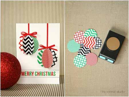 tarjetas de navidad en d adornos y rboles