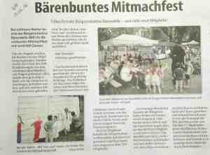 Bärenbuntes Mitmachfest im Westanzeiger