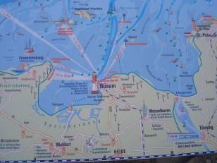Karte Büsum
