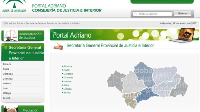 El portal de información judicial andaluz recibe más de 550.000 visitas anuales
