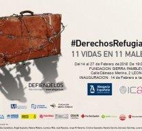 Exposición 'Derechos Refugiados 11 vidas en 11 maletas' llega a León