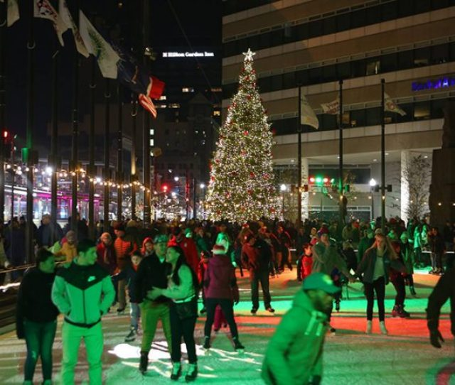 One Of The Greatest Things About Buffalo Winters Is The Free Ice Skating At At Rotary Rink Fountain Plaza Theres Nothing Like Walking Down Main Street