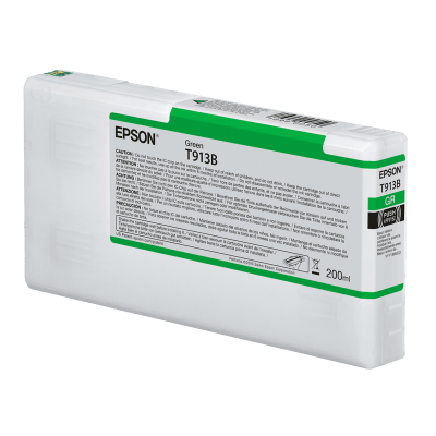 Epson T913B00 UltraChrome HDX Green Ink Cartridge (200 ml)