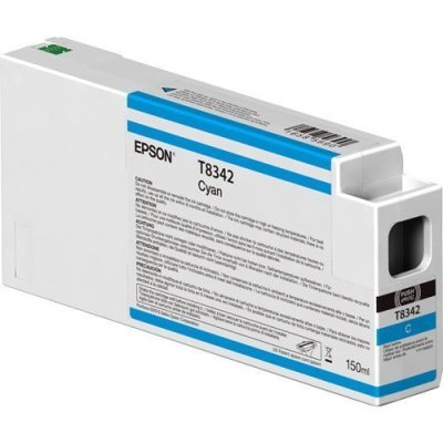 Epson T834200 UltraChrome HD Cyan Ink Cartridge (150 ml)