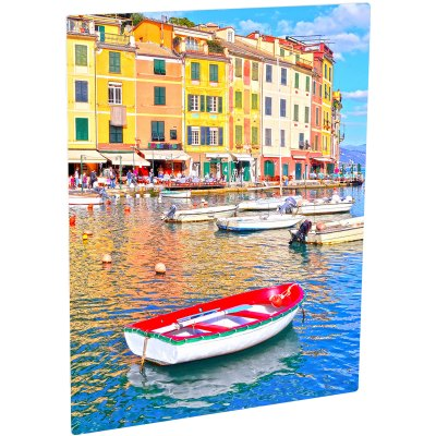 ChromaLuxe Glossy White Metal Photo Panel