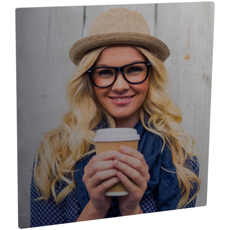 ChromaLuxe Semi-Glossy Clear/Silver Metal Photo Panel