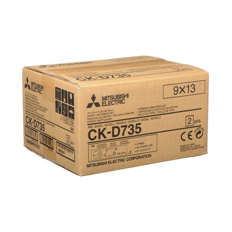 Mitsubishi CK-D735 3.5x5 Perforated Paper & Ribbon Media Kit For CP-D70DW, CP-D707DW & CP-D90DW Printer