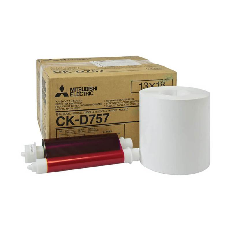 "Mitsubishi CK-D757 5x7"" Paper & Ribbon Media Kit For CP-D70DW, CP-D707DW, CP-D80DW & CP-D90DW Printer"