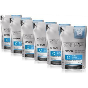 Epson T741200 UltraChrome DS Cyan Ink 1 Liter (6 Pack)