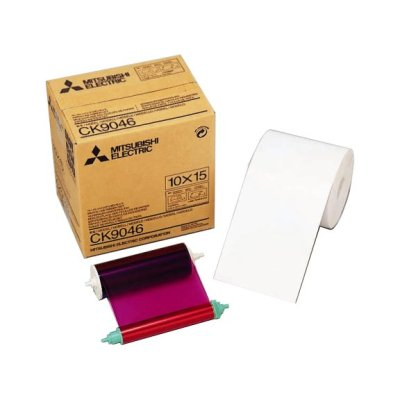 "Mitsubishi CK-9046 4x6"" Paper & Ribbon Media Kit for CP-9550DW & CP-9810DW Dye-Sub Printer"