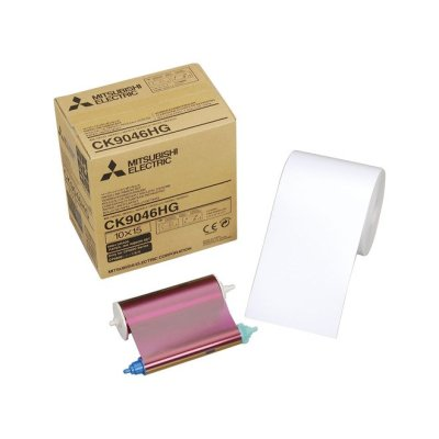 Mitsubishi CK-9046HG 4x6 Paper & Ribbon Media Kit for CP-9800DW & CP-9810DW Dye-Sub Printers