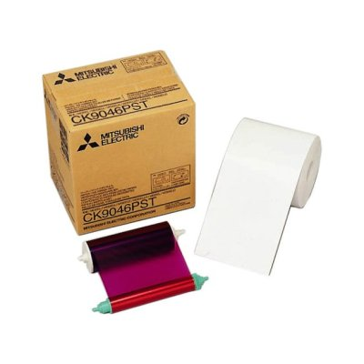 "Mitsubishi CK-9046PST 4x6"" Postcard Paper & Ribbon Media Kit for CP-9550DW & CP-9810DW Dye-Sub Printer"