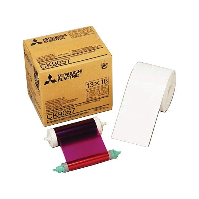 """Mitsubishi CK-9057 5x7"""" Paper & Ribbon Media Kit for CP-9550DW & CP-9810DW Dye-Sub Printer"""