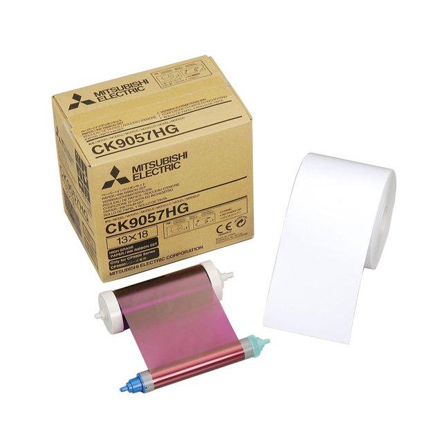 Mitsubishi CK-9057HG 5x7 Paper & Ribbon Media Kit for CP-9800DW & CP-9810DW Dye-Sub Printers