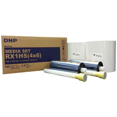 "DNP DS-RX1HS 4x6"" Dye Sub Printer Media Kit (2 Rolls, 1400 Prints)"