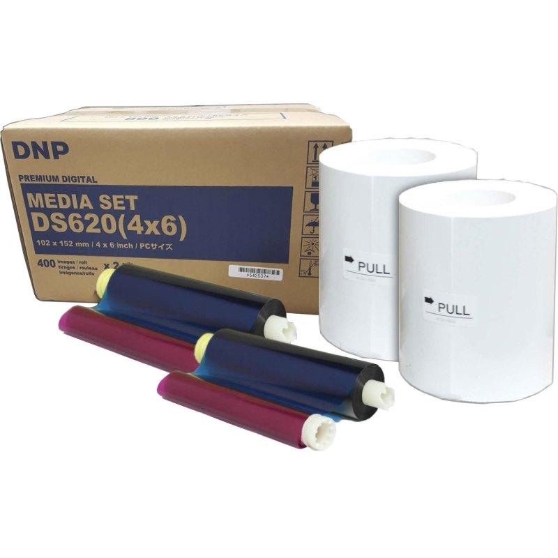 "DNP DS620A 4x6"" Dye Sub Printer Media Kit (2 Rolls, 400 Prints)"