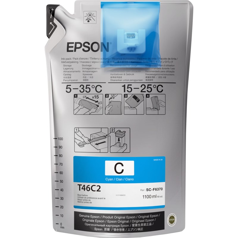 Epson T46C220 UltraChrome DS Cyan 1100 mL (Single Pack)