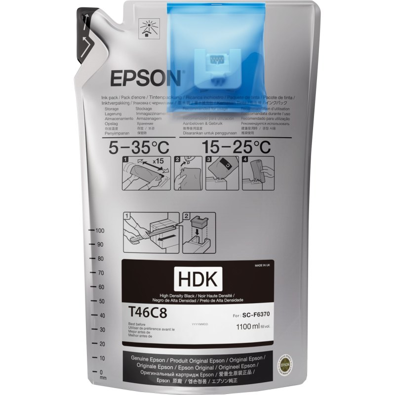 Epson T46C820 UltraChrome DS High Density Black 1100 mL (Single Pack)