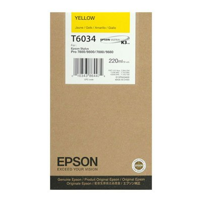 Epson T603400 Yellow UltraChrome K3 Ink Cartridge (220 ml)