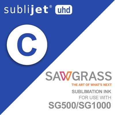 Sawgrass SubliJet-UHD SG500/SG1000 Sublimation Cyan Ink Cartridges 31 ml