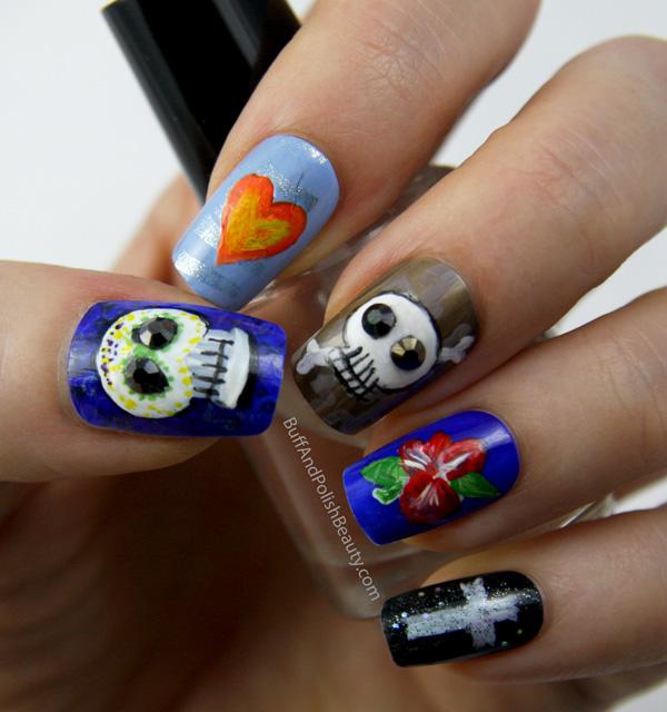 Day Of The Dead Día De Los Muertos Nail Art