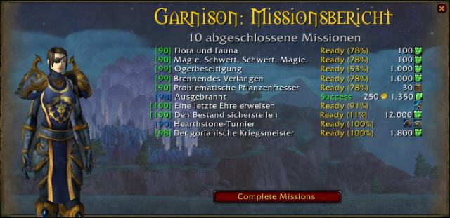 World Of Warcraft Add Ons Fr Die Garnison