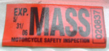 Mass Motorcycle Inspection Stickers Menhavestyle1 Com