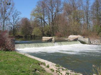 Jez u rybářské hospody - řeka Morava