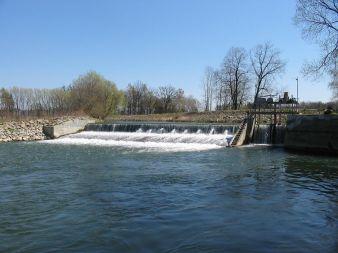 Jez u vily Háj - řeka Morava