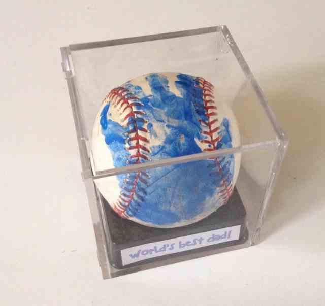 Fathers Day Baseball gift. Handprint baseball
