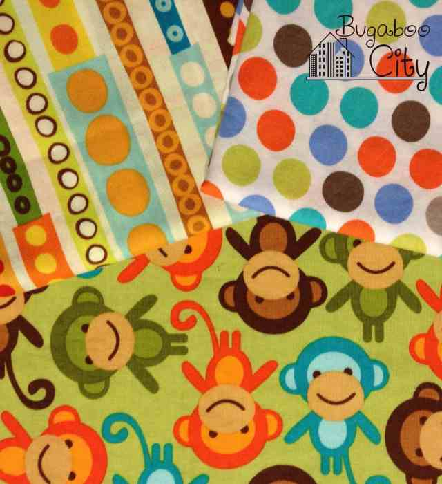 Monkey fabrics for birthday party