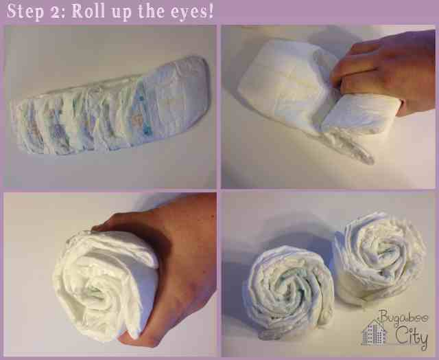 Step 2. DIY Owl Diaper Cake Tutorial