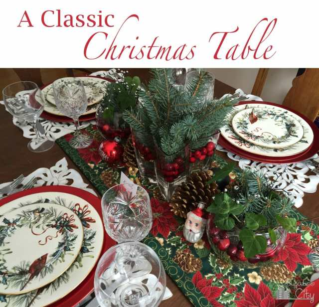 A Classic Christmas Table
