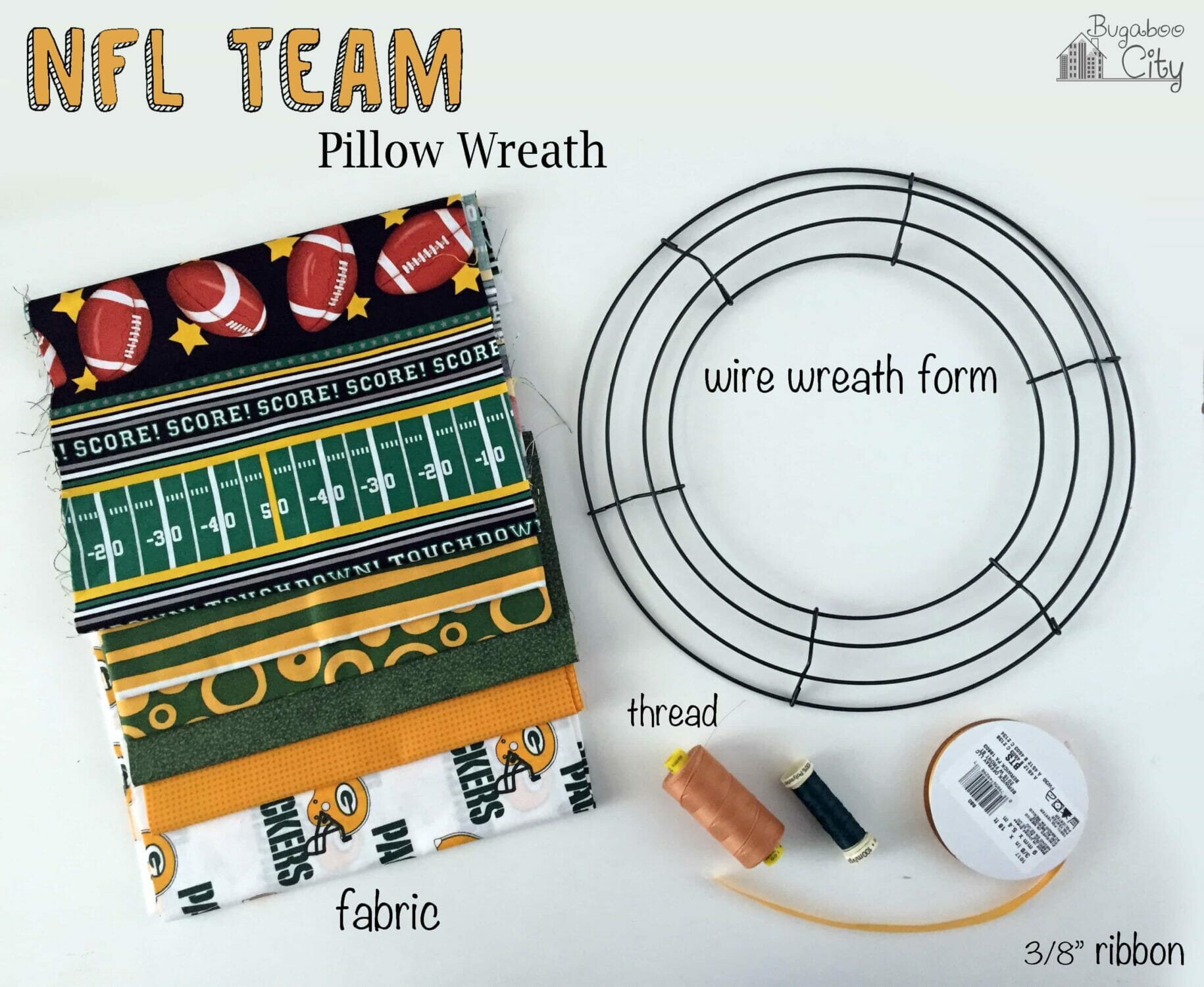 nfl team pillow wreath bugaboocity