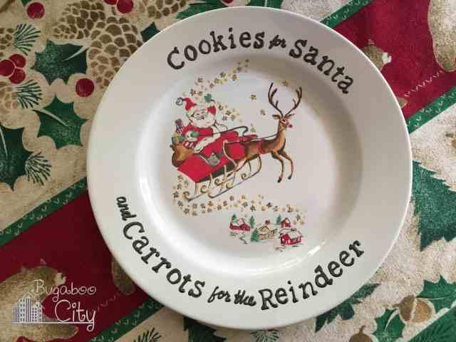 Vintage Card Santa Plate