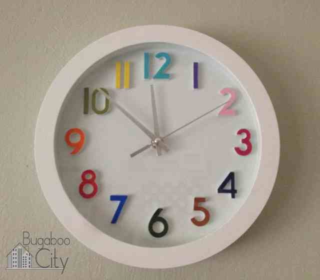 Nursery Clock Makeover