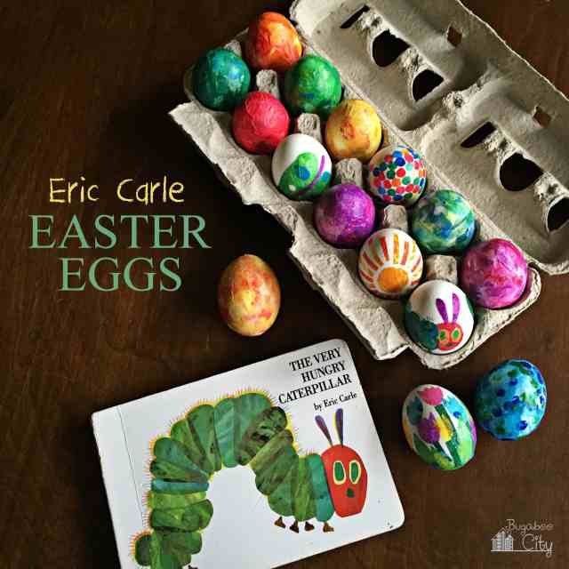 DIY Decorated Easter Eggs: Eric Carle Easter Eggs