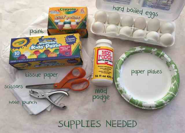Eric Carle Easter Eggs Supplies Needed
