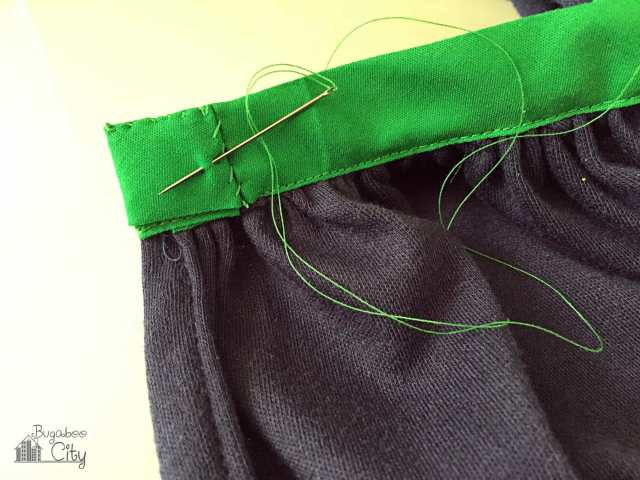 Wrap Skirt Onesie Tutorial