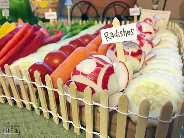 Garden Themed Vegetable Platter Tutorial