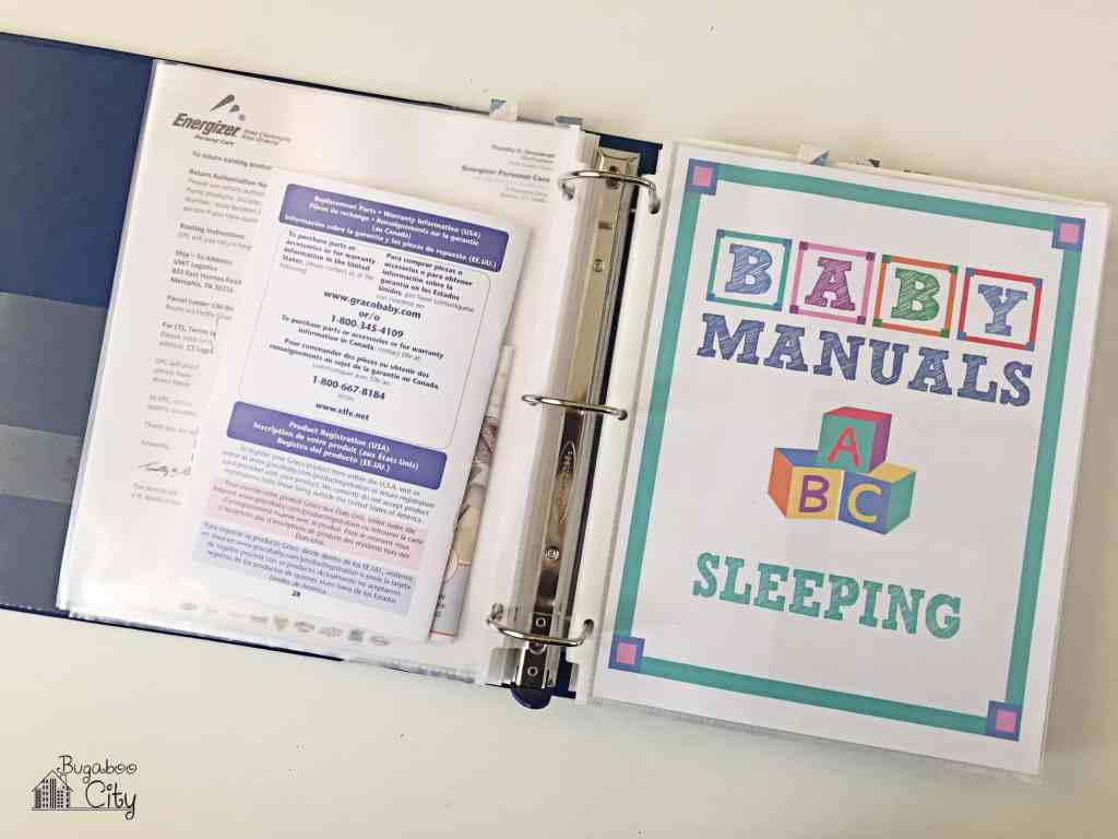 Baby Manuals Binder Printables 6