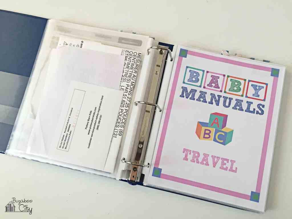 Baby Manuals Binder Printables 7