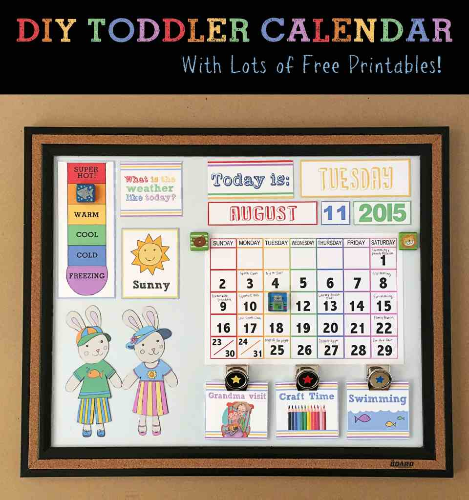 2DIY Toddler Calendar With Lots of Free Printables