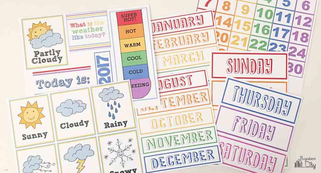 DIY Toddler Calendar Magnetic Board