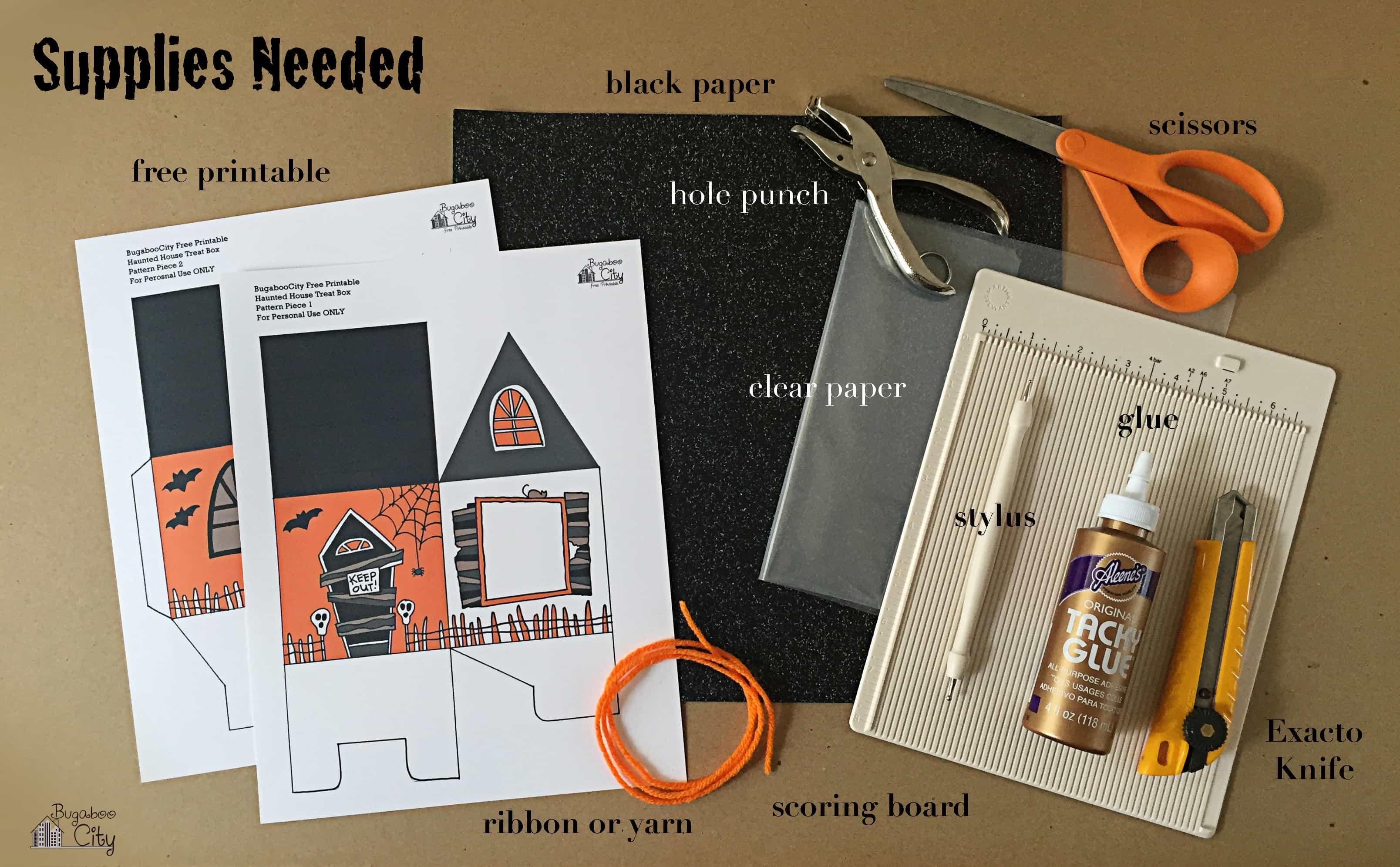 Halloween Haunted House Treat Box Bugaboocity