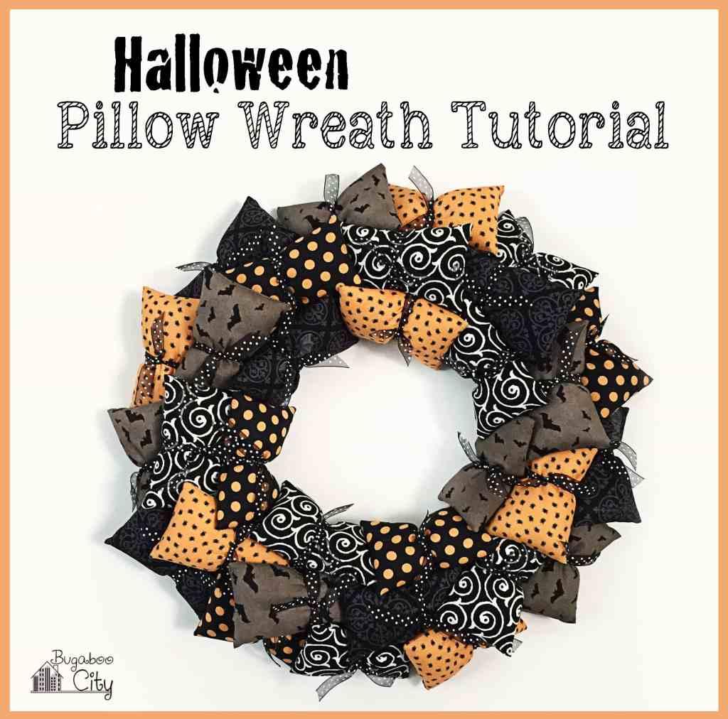 Halloween Pillow Wreath Tutorial 010